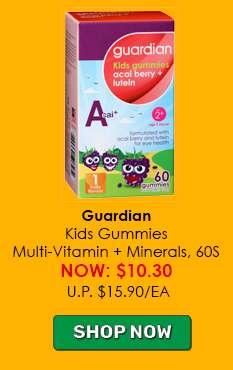 Guardian Kids Gummies Multi-Vitamin + Minerals, 60S