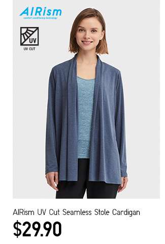 Women's AIRism UV Cut Seamless Stole Cardigan at $29.90