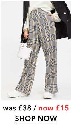 Multi Coloured Bold Check Corset Trousers