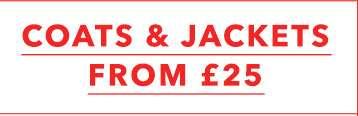 Coats & jackets from £25