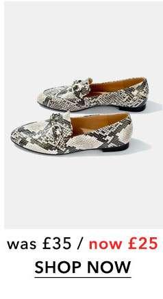 Grey FANCY Trim Detail Loafers