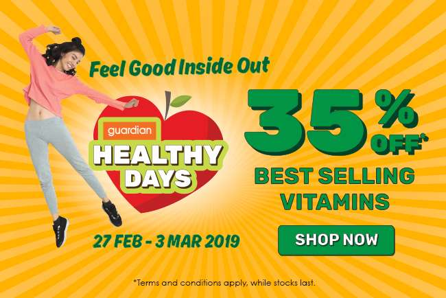 Healthy Days 35% off Best Selling Vitamins