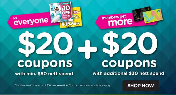 $20 + $20 coupons