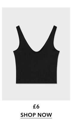 Black Sleeveless Scoop Neck Crop Top