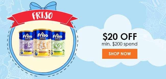 Friso $20 off min. $200 spend