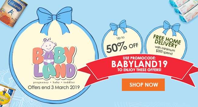Use Promo Code: BABYLAND19 to enjoy Babyland offers