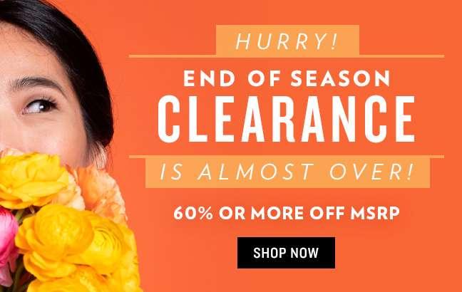 Shop End of Season Clearance