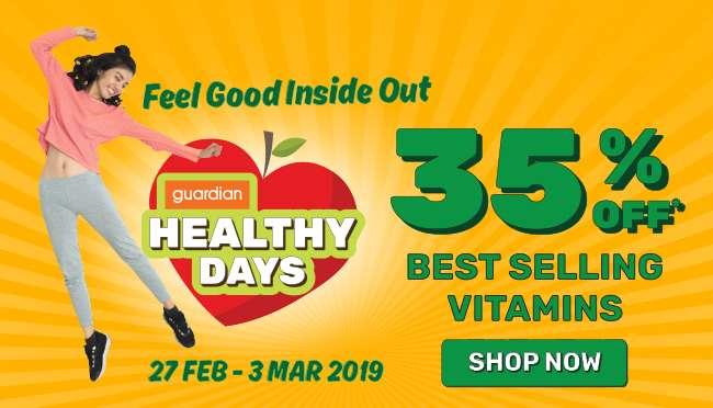 Healthy Days 35% off Best Selling Vitamins till 3 Mar 2019