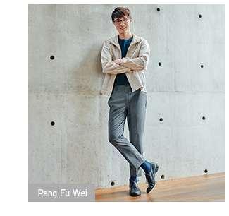 Fu Wei's look in Ankle Pants