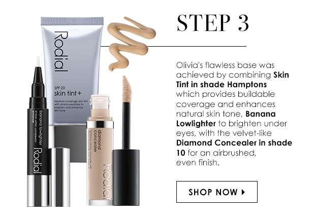 Step 3: Skin Tint Hamptons & Banana Lowlighter & Diamond Concealer Shade 10