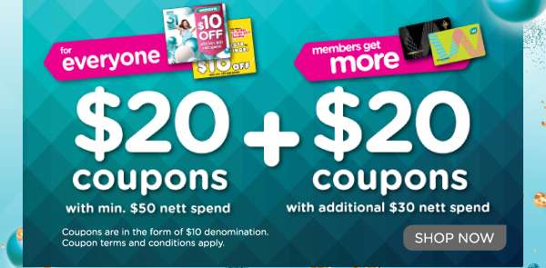 $20 + $20 Coupon Day