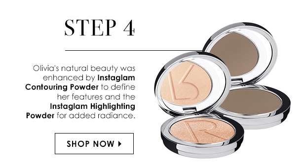 Step 4: Instaglam Contouring Powder & Instaglam Highlighting Powder
