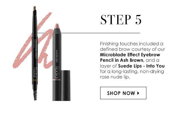 Step 5: Microblade Effect Eyebrow Pencil Ash Brown & Suede Lips Into You