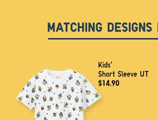 Minions Matching Set | Kids' Short Sleeve UT at $12.90