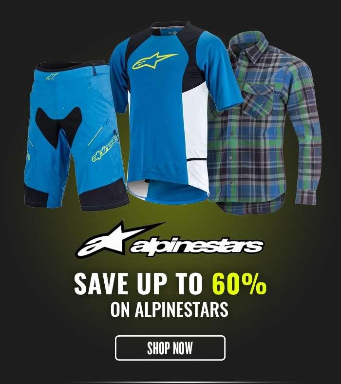 Save up to 60% on Alpinestars