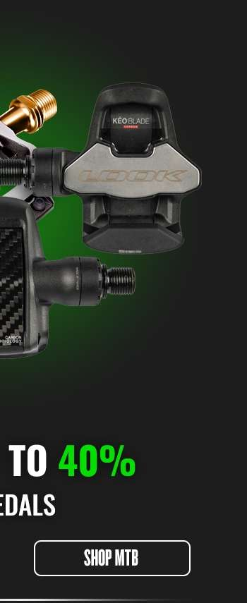 Save up to 40% on Pedals - MTB