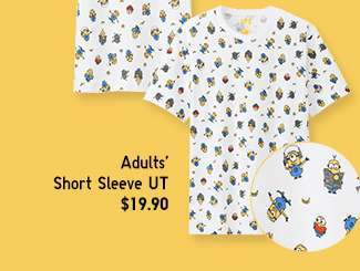 Minions Matching Set | Adults' Short Sleeve UT at $14.90