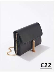 Black Tassel Cross Body Bag