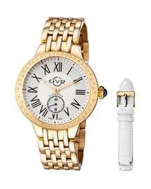 Gv2 40mm Astor Bracelet Watch w/ Diamond Bezel & Interchangeable Strap,