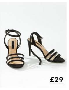 SENTARA Black Perspex Heeled Sandals