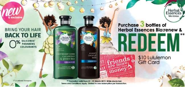 Herbal Essences promotion