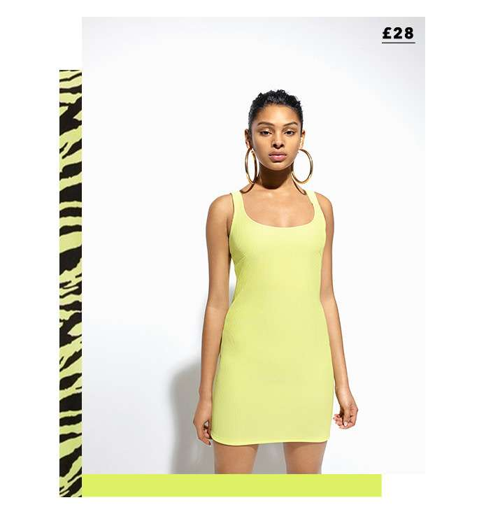 Fluro Bodycon Mini Dress