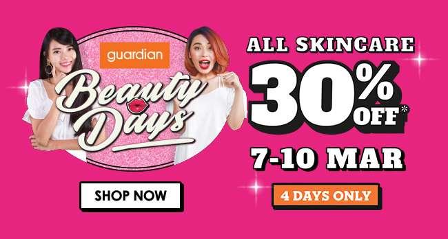 30% off ALL Skincare 7-10 Mar