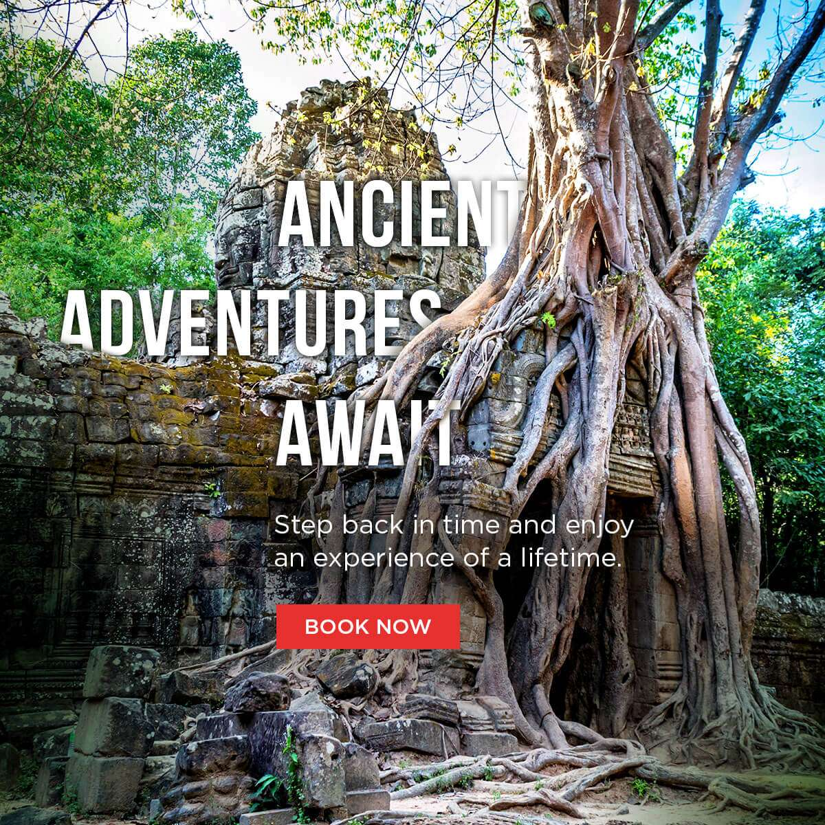 Ancient adventures await! Step back in time and enjoy an experience of a lifetime.