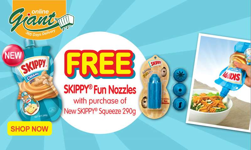 Skippy: Free Skippy Fun Nozzles with purchase of New Skippy Squeeze 290g. Shop Now!