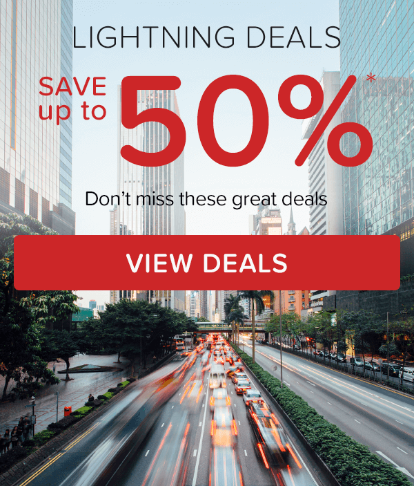 Lightning Deals – Save up to 50%*