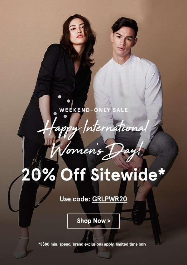Happy International Women's Day! Take 20% Off Sitewide
