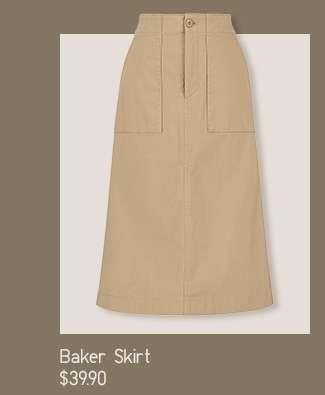 Shop Serena's look: Women's Baker Skirt at $39.90
