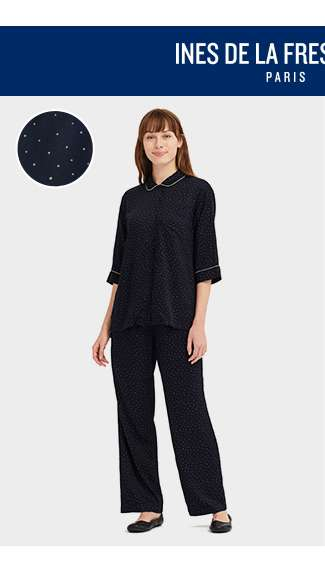 IDLF 3/4 Sleeve Rayon Pajamas (Dots) at $49.90
