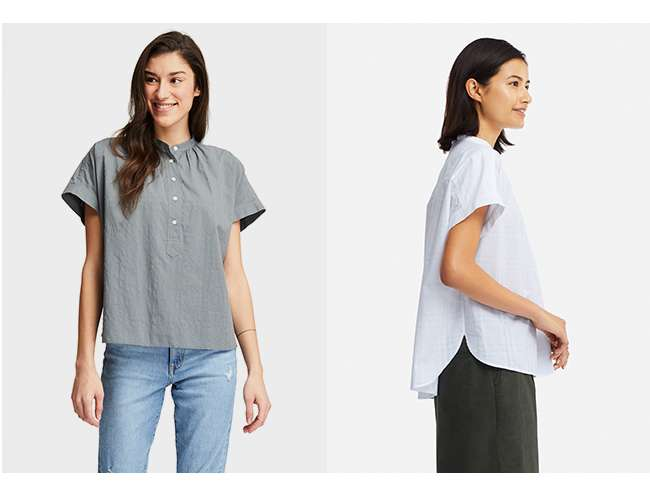 Soft Cotton Short Sleeve Blouse at $19.90