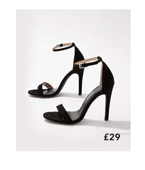HESTER Black Barely There Sandals