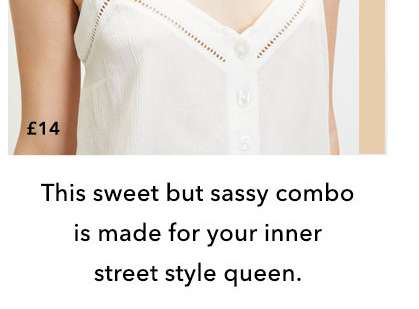 Ivory Button Through Camisole Top