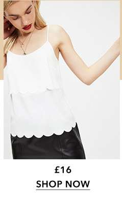 Ivory Scallop Layer Camisole Top