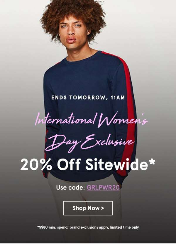 International Women's Day Exlcusive: 20% Off Sitewide