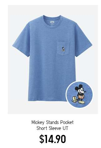 Mickey Stands Pocket Short Sleeve UT $14.90