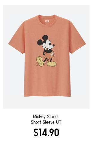 Mickey Stands Short Sleeve UT $14.90