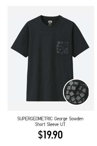 Super Geometric George Sowden Graphic Short Sleeve UT $19.90