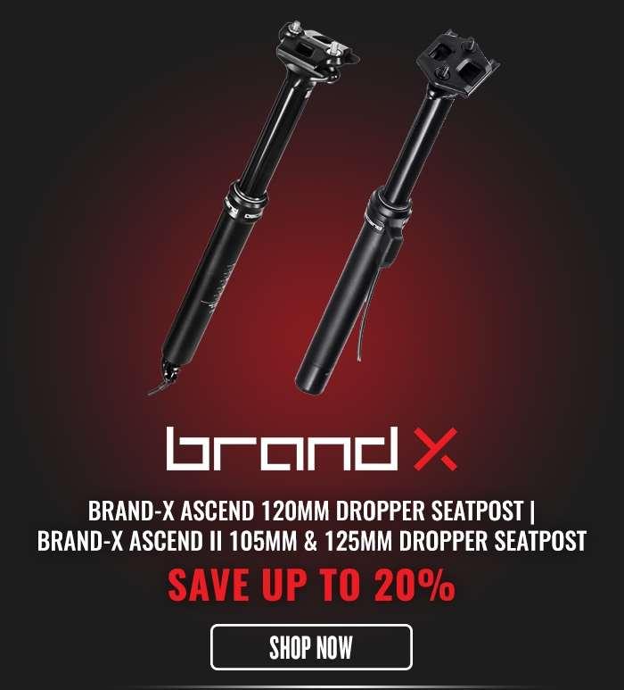 Brand-X Ascend 120mm Dropper Seatpost | Brand-X Ascend II 105mm & 125mm Dropper Seatpost Only £99.99