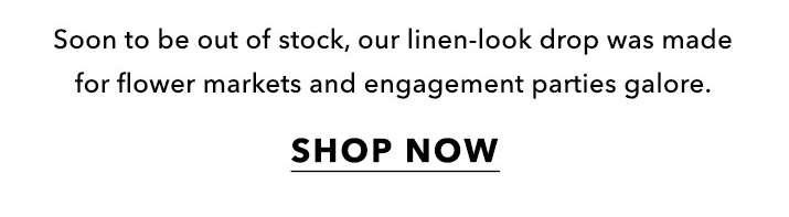Get the linen look - Shop Now