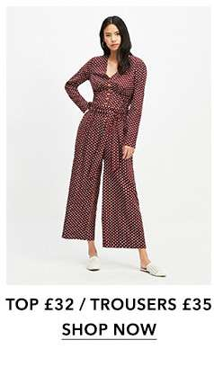 Red Spotted Linen Co-Ord