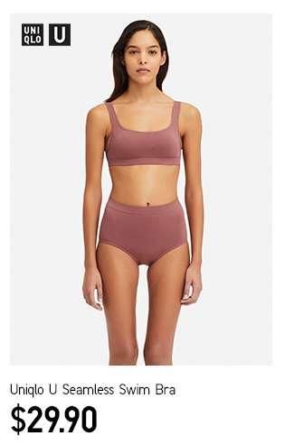 Women's UNIQLO U Seamless Swim Bra at $29.90