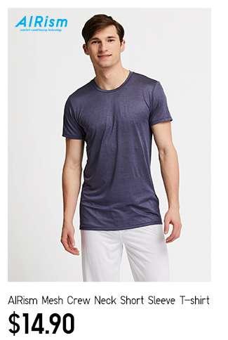 Men's AIRism Mesh Crew Neck Short Sleeve T-Shirt at $14.90