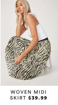 Woven Midi Skirt | Shop Now