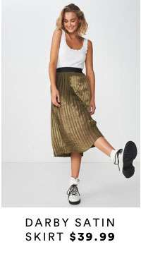 Darby Satin Skirt   Shop Now