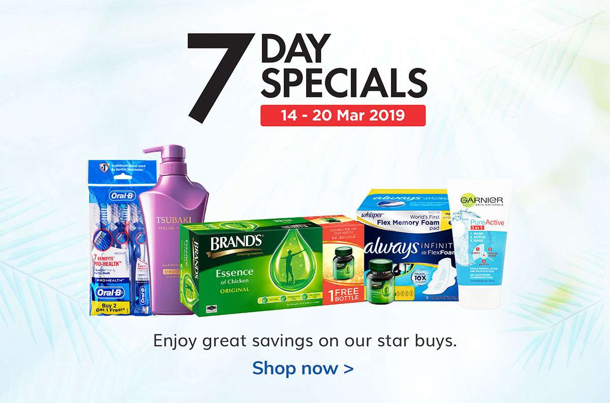 7 Days Specials from 14-20 Mar 2019