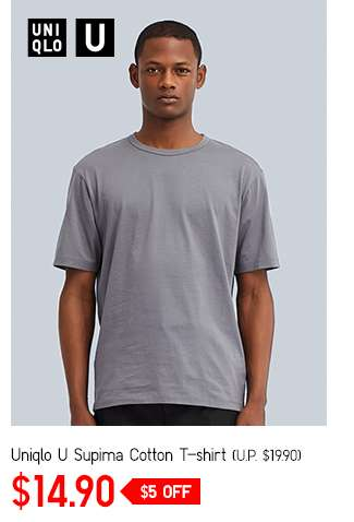 Men's Uniqlo U Supima Cotton T-shirt at $14.90